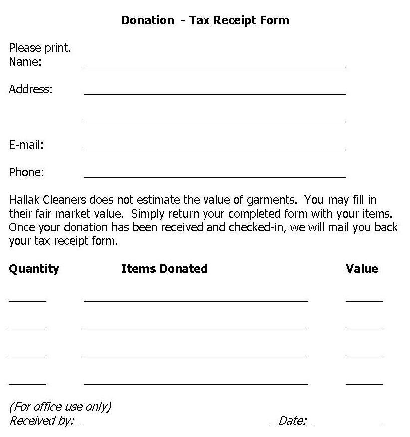 tax deductible donation receipt template ricdesign